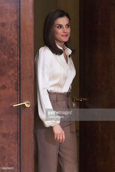 Queen Letizia of Spain attends several audiences at the Zarzuela Palace on January 23, 2018 in Madrid, Spain.