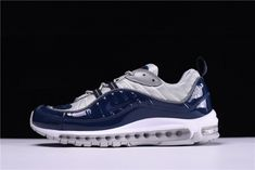 Supreme x Nike Air Max 98 Silver Navy