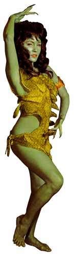 """Star Trek TOS Vina Green Orion Animal Slave Girl """"The Cage"""" Window Cling Sticker 