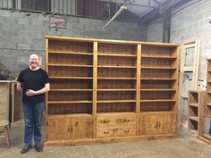 Another great Bespoke furniture piece from LPC Furniture , would love to see this big bookcase filled with books. Bookshelves, Bookcase, Bespoke Furniture, Solid Oak, Custom Made, Shelving, Living Room, Big, Home Decor