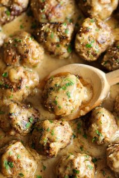In an effort to cut back serving beef to my family, I am using more ground turkey and chicken.  These Turkey (or Chicken) Meatballs are delicious served with garlic bread and a green salad.