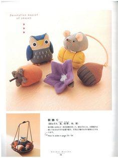 Japanese book and handicrafts - Animal Mascot Felt Patterns, Craft Patterns, Japanese Books, Doll Tutorial, Diy Doll, Pattern Books, Fabric Dolls, Pet Birds, Handicraft