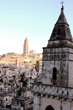 Viewing the sunset of Matera!