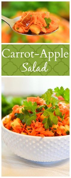 Carrot-Apple Salad - This healthy, 21 Day Fix approved recipe is simple, delicious and perfect for summer barbecues and potlucks. Gluten Free | Vegan