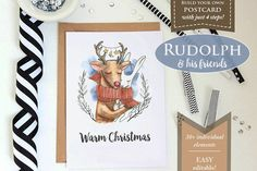 nice Rudolph's Postcards CreativeWork247 - Fonts, Graphics, Themes, Tem...