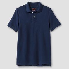 Boys' Pique Polo T-Shirt Cat & Jack - Navy (Blue) XS, Boy's