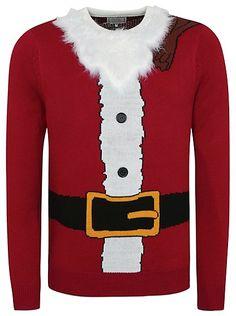 Cute Christmas Jumper - Santa Claus Christmas Jumper | Men | George at ASDA
