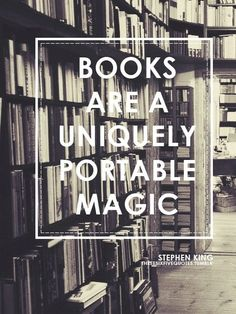 Books are a uniquely portable magic.  I want this poster sized and hanging in my office.