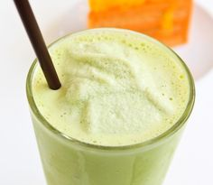 For a light a refreshing #breakfast, try our Green Tea Smoothie recipe!  2-3 ice cubes 1/2 cup brewed green tea, chilled 1/2 cup nonfat vanilla yogurt 1/2 banana Place ingredients into the Ninja Single Serve Cup. Pulse and hold until smooth. Serves 1.
