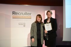 Sue Ticquet our Managing Director collecting our commendation!