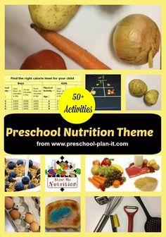 Preschool Nutrition Theme As early childhood educators, we have a great opportunity and responsibility to work with families to help preschoolers learn about nutrition and making healthy food choices.  It is my hope that we can help our children and families become more aware of healthy food choices that will help them to become healthy adults.  This Theme page is filled with preschool activities and ideas for all areas of your classroom. It includes activities for nutrition and the food…