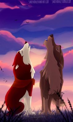 I think that Balto and Jenna lived happily together at Jenna's house after the events of the first film. I can't buy that Balto was left alone on t. Anime Wolf, Anime Disney, Disney Art, Disney Movies, Cartoon Wolf, Cute Cartoon, Furry Wolf, Furry Art, Balto And Jenna