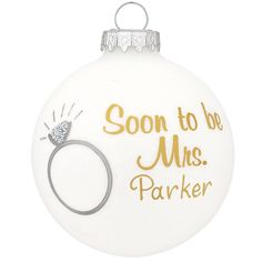 Personalized Soon To Be Mrs Glass Ornament from Bronner's Christmas store of Christmas ornaments and Christmas lights Christmas Lights, Christmas Crafts, Christmas Decorations, Holiday Decor, Bride To Be Quotes, Christmas Wonderland, Ornament Crafts, Personalized Christmas Ornaments, Paint Pens