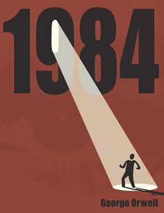Version 2 - Nineteen Eighty-Four book cover, often published as is a dystopian novel by English author George Orwell published in June Typography Poster, Typography Design, Lettering, Typography Portrait, Graphic Design Books, Graphic Design Inspiration, Youtube Cover, Poster Minimalista, Minimalist Book