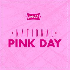 We may wear pink every Wednesday, but today is national pink day. What's your favorite pink clothing or accessory? National Pink Day, Today Is National, Avon, Everything Pink, Pink Outfits, Skin So Soft, Color Names, Mary Kay, Laugh Out Loud