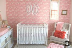 Project Nursery - Wall Monogram above Crib
