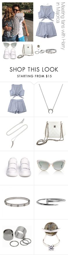 """""""Meeting fans with Harry in Majorca"""" by thetrendpear-eleanor ❤ liked on Polyvore featuring Chan Luu, Chanel, Alexander McQueen, Dita, Cartier, Pieces and Fendi"""
