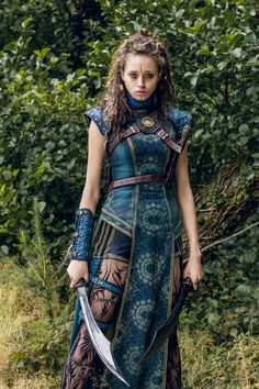 Ella-Rae Smith as Nix - Into the Badlands _ Season Episode 1 - Photo Credit: Aidan Monaghan/AMC Medieval Combat, Warrior Outfit, Warrior Fashion, Warrior Clothing, Fantasy Dress, Fantasy Outfits, Fantasy Clothes, Viking Woman, Viking Life