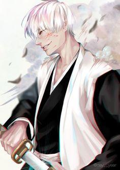 D-A-Y-E-A-R Bleach Fanart, Bleach Manga, Bleach Characters, Naruto Characters, Shinigami, Gin Bleach, Ichimaru Gin, Bleach Shirt Diy, Sun Ken Rock