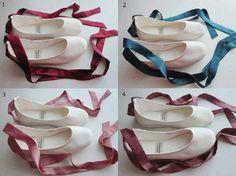 Bridal Ballet Flats for Bethany,Amanda,Lauren, & Allana  for the reception:)