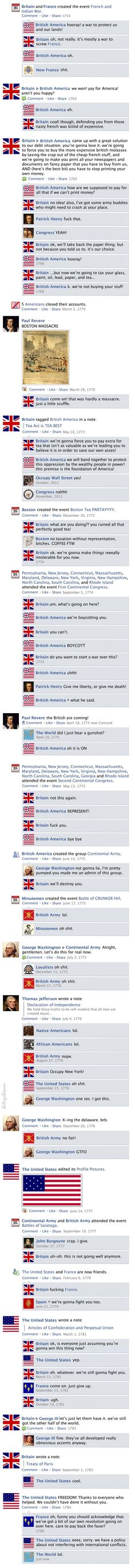 The American Revolution - Honestly you can't not have laughed at that very last comment. I did and I'm an American.