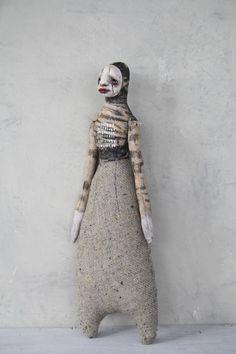 OOAK ARt Doll Soft SCulpture Minimalist by StephanieVandalART,