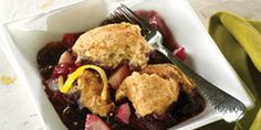 Simple dessert recipes are expected after a great dinner. Try Blueberry Lemon Country Cobbler for a wonderful treat. Made with blueberries, pears and zest of a lemon, this will become one of your favorites. Diabetic Desserts, Diabetic Recipes, Healthy Recipes, Diabetic Foods, Healthy Foods, Blueberry Recipes, Fruit Recipes, Diet Recipes, Easy Holiday Recipes