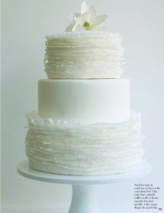 The basic plain layer (looks like fondant-covered) breaks up the ruffle-ness.