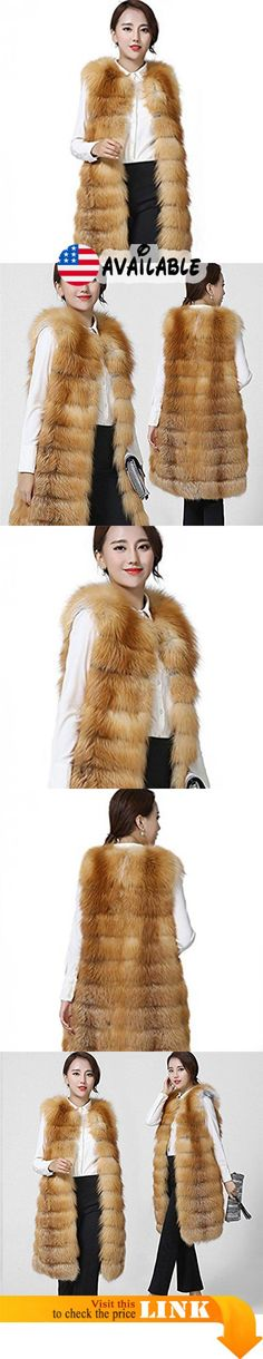 B077B5386R : MINGCHUAN Women's Real Red Fox Fur Vest Thick Sleeveless Coat Outwear Warm Long Vest. MATERIALS - Made of 100% Real Natural Red Fox Fur and polyester lining not only the vest but also you will be the most shining. Lightweight and comfy in full pelt it's equally elegant with leather trousers and jeans.. ELEGANT AND LUXURIOUS - With the most luxurious fur and natural softness this fur vest is a visual and tactile work of art that makes your winter warm and lovely..