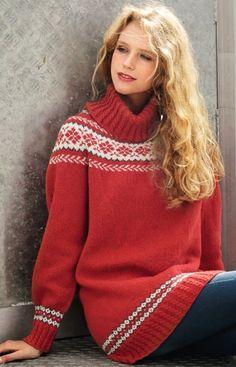 Ravelry: Genser pattern by Rauma Designs Knitting Designs, Knitting Patterns, Etnic Pattern, Sweater Fashion, Men Sweater, Pullover, Winter Sweaters, Clothing Patterns, Free Pattern