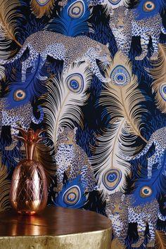 Matthew Williamson Leopardo Wallpaper Osborne And Little Pfau Wallpaper, Peacock Wallpaper, Bird Wallpaper, Wallpaper Direct, Modern Wallpaper, Wallpaper Online, Animal Wallpaper, Designer Wallpaper, Pattern Wallpaper
