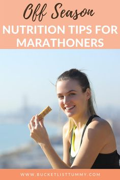 No race or training regimen on the schedule? Does that change how you should be eating? Figure out what to focus on for off season eating for athletes #marathontraining #nutritionforrunners #nutritionforrunning
