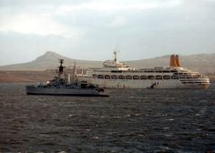 The Great White Whale! Falklands Duty plus Leander class frigate.