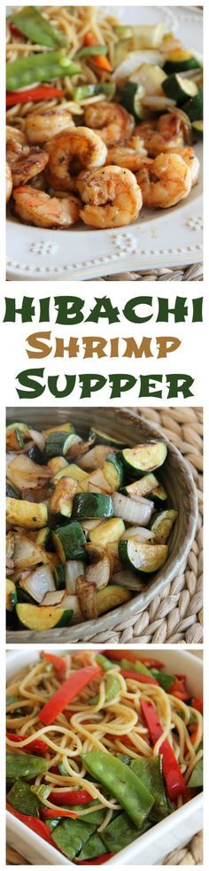 Going to the Hibachi is such a special treat, but it can be really expensive.  Here's an at home version! - Hibachi Shrimp Supper