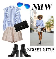 """""""NYFW"""" by janicevc on Polyvore featuring Anna Sammarone, Valentino, Diane Von Furstenberg, Oliver Peoples, StreetStyle and NYFW"""