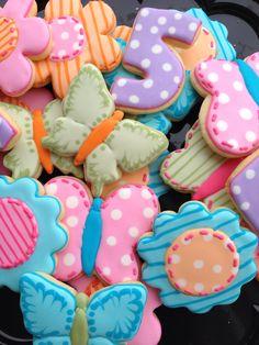 Girl birthday cookies