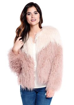 Heres How to Rock Color-Block Fur, According to Celebs via Brit   Co