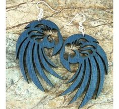 Macaw Earrings from Birdbrain Gifts $11.95