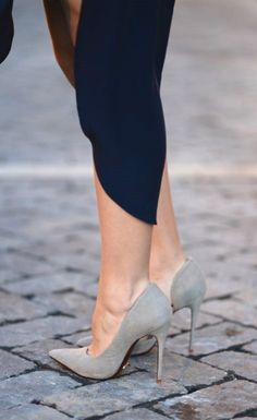Make smooth moves with suede pumps.