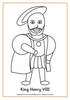 K is for King Coloring Page  Twisty Noodle