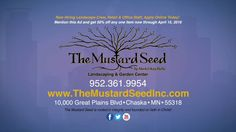 """Our Next featured business is """"Now Hiring Landscape Crew, Retail & Office Staff, Apply Online Today"""" … It is a family owned landscaping and garden center that's tradition started in 1942 … The Mustard Seed Garden Center as featured on """"Around Town"""" TV! www.Around-Town.TV www.TheMustardSeedInc.com"""