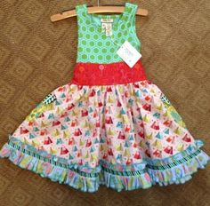 Matilda Jane Wonderful Parade Festival Tank Dress Size 4 SOLD OUT!!!