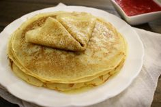 Russian Blini - Similar to crepes. Are a bit thicker and have a different taste. Depending on how they are prepared, can have a varied range of textures and flavors. Perfect for desserts or can be used as a main dish by being stuffed with meats and various vegetables. There are many possibilities with this versatile dish.