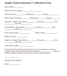 Employment Verification Form Sample Best Printable Forms Printableforms On Pinterest