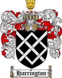HARRINGTON FAMILY CREST - COAT OF ARMS gifts at www.4crests.com