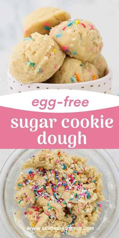 This Edible Sugar Cookie Dough is safe to eat! It's egg-free and made with heat-treated flour. Plus you'll only need 6 ingredients. It is the perfect snack when you are craving cookies but don't want to turn on the oven. Cookie Dough No Eggs, Edible Sugar Cookie Dough, Cookie Dough Recipes, Best Cookie Recipes, Sugar Cookies Recipe, Soft Baked Cookies, Crispy Cookies, Most Delicious Recipe, No Bake Desserts