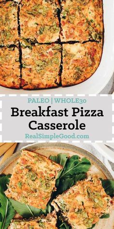 It's like leftover pizza, but healthier and an easy breakfast. Try our Whole30 and Paleo Breakfast Pizza Casserole for tasty pizza flavors in the morning! | realsimplegood.com