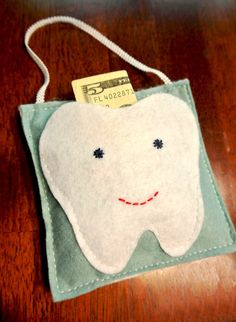 Custom Handmade Hanging Tooth Fairy Pillow by FrostbiteDesigns