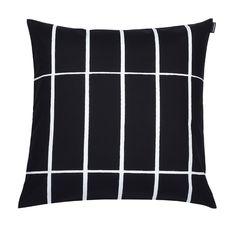 Tiiliskivi tyynynpäällinen, 50 x 50 cm, musta-valkoinen