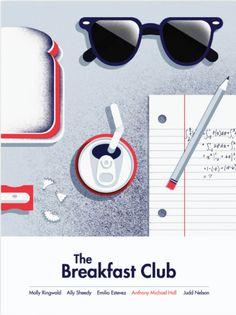 The Brain ~ The Breakfast Club (1985) ~ Minimal Movie Poster by BigEye Agency #amusementphile